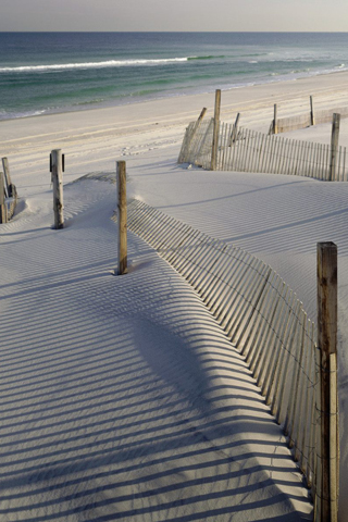Beach Fence iPhone Wallpaper