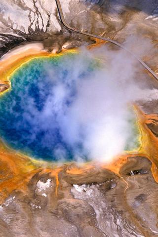 Ariel Volcano iPhone Wallpaper