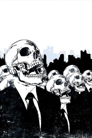 Skeleton Citizens iPhone Wallpaper