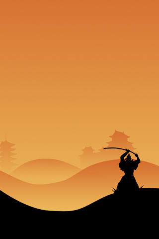 Samurai Silhouette iPhone Wallpaper
