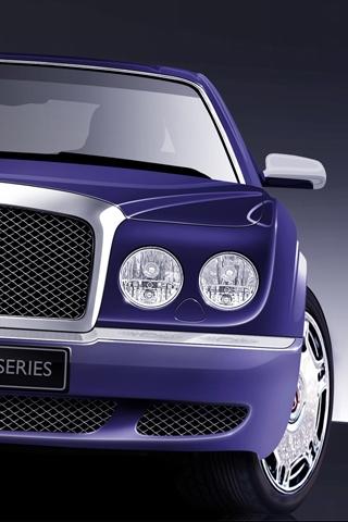 Purple Bently iPhone Wallpaper