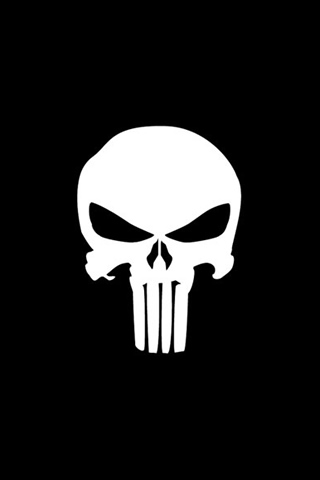 The Punisher Logo Iphone Wallpaper Idesign Iphone