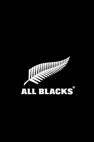 All Blacks Logo iPhone Wallpaper
