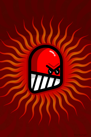 Angry Red Guy iPhone Wallpaper