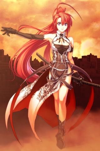 Anime Warrior iPhone Wallpaper
