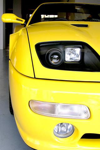 Ferrari Closeup iPhone Wallpaper