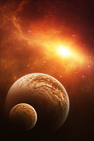 Little Planet iPhone Wallpaper