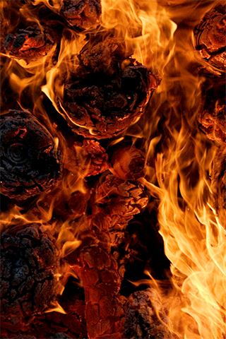 Logs Of Fire Iphone Wallpaper Idesign Iphone