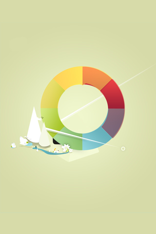 Color Wheel iPhone Wallpaper
