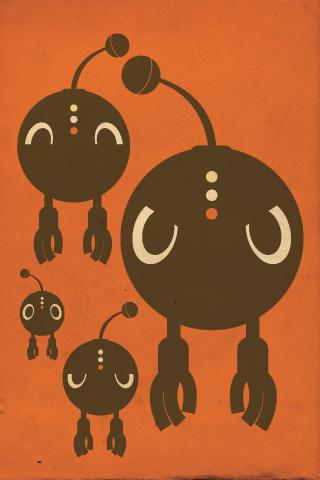 Dot Robot iPhone Wallpaper