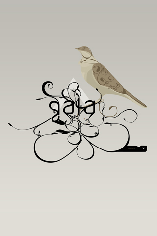 Swirly Bird iPhone Wallpaper