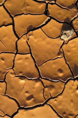 Cracked Mud iPhone Wallpaper