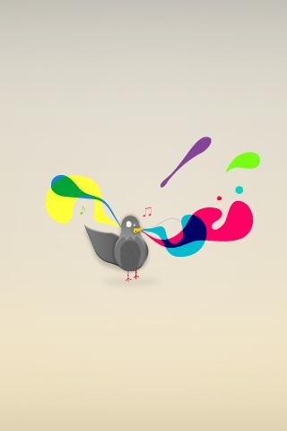 Pigeon Noise iPhone Wallpaper