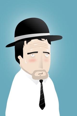 Sad Man iPhone Wallpaper