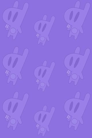 Purple Bunnies iPhone Wallpaper