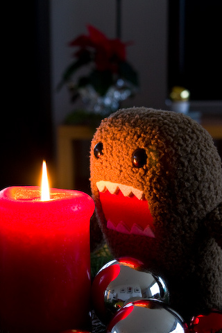 Domo + Candle iPhone Wallpaper