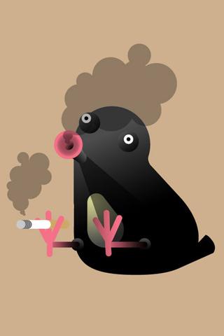 Smoking Bird Iphone Wallpaper Idesign Iphone