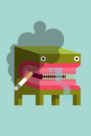 Smoking Table iPhone Wallpaper