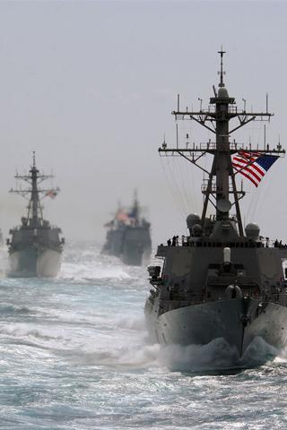 Navy War Ships iPhone Wallpaper