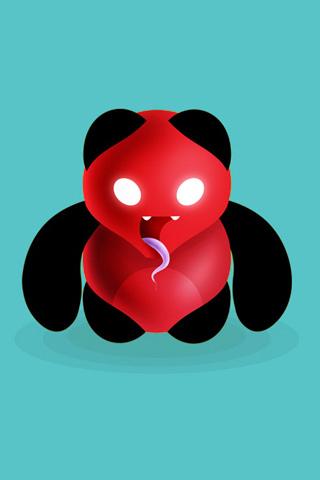 Evil Panda iPhone Wallpaper