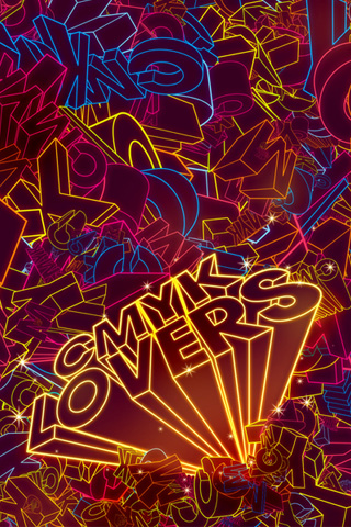 CMYK Lovers iPhone Wallpaper