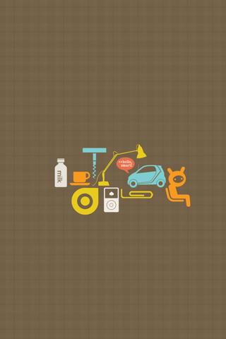 Smart Car Vector iPhone Wallpaper