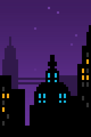 Pixel City iPhone Wallpaper