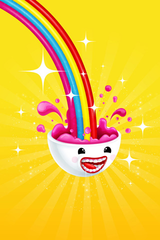 Happy Bowl iPhone Wallpaper