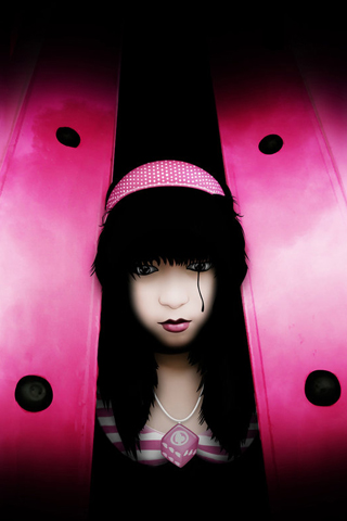 Pink Girl iPhone Wallpaper