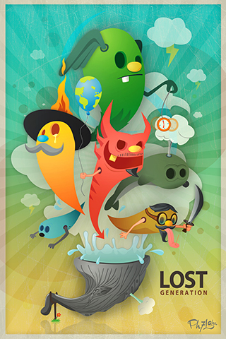 Lost Generation iPhone Wallpaper