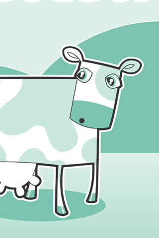 Surprised Cow iPhone Wallpaper