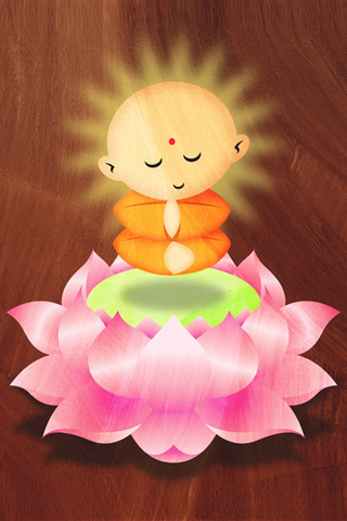 buddha wallpapers. Little Buddha iPhone Wallpaper