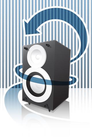 Vector Speaker iPhone Wallpaper