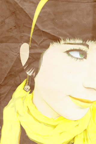 Paper Girl iPhone Wallpaper