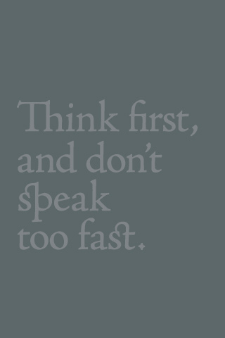 Think First Iphone Wallpaper Idesign Iphone