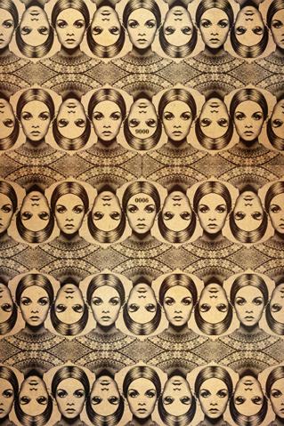 Head Pattern iPhone Wallpaper