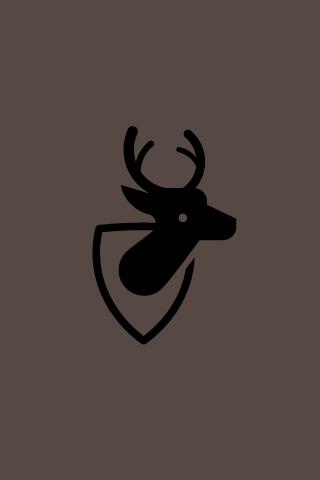 Vector Deer iPhone Wallpaper