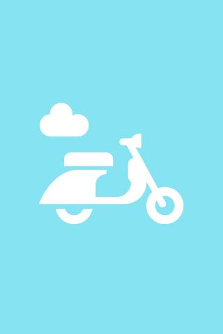 Scooter Emblem iPhone Wallpaper