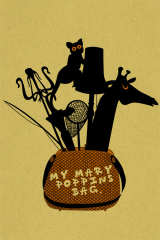 Marry Poppins iPhone Wallpaper