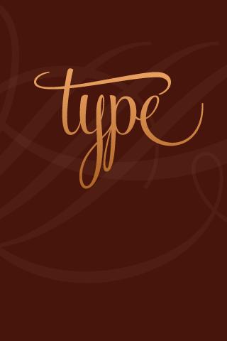 Cursive Type iPhone Wallpaper