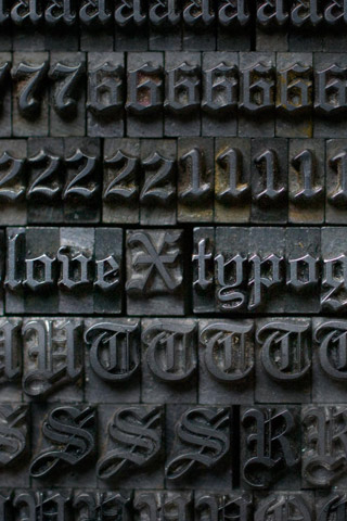 Old Type Press iPhone Wallpaper