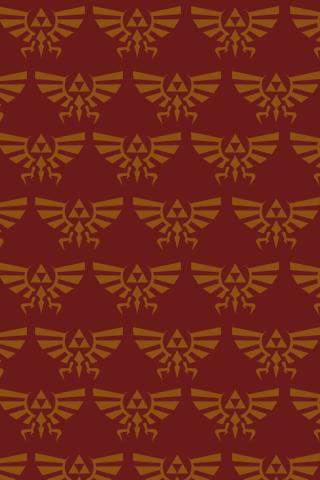 Zelda Pattern Red iPhone Wallpaper