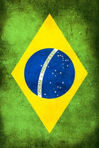 Brazil Flag iPhone Wallpaper