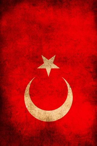 Turkey Flag iPhone Wallpaper