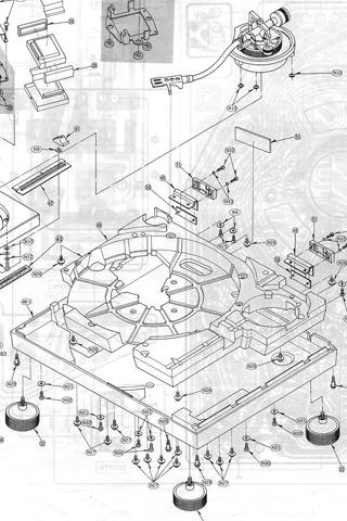 Technics blueprint iphone wallpaper idesign iphone technics blueprint iphone wallpaper malvernweather Images
