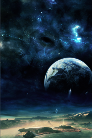 Space Fantasy iPhone Wallpaper