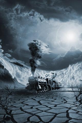 Midnight Train iPhone Wallpaper