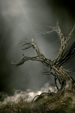 3D Tree iPhone Wallpaper