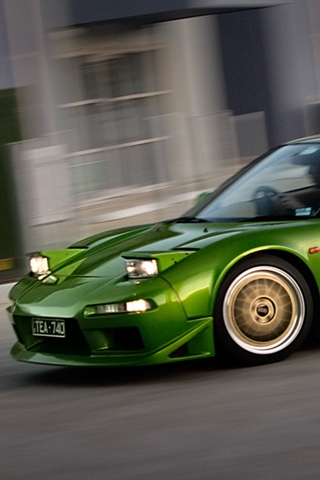 Green Acura NSX iPhone Wallpaper
