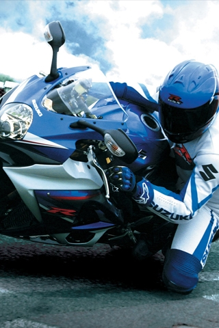 Suzuki GSX R Lean iPhone Wallpaper